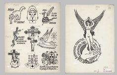 """hockeyteeth: """" Russian criminal tattoo flash by Danzig Baldaev. He was a prison guard from & documented all the tattoos saw over the years. Russian Mafia Tattoos, Russian Prison Tattoos, Russian Criminal Tattoo, Russian Tattoo, Mob Tattoo, Flash Tattoo, Traditional Tattoo Flash, Vintage Flash, Chicken Scratch"""