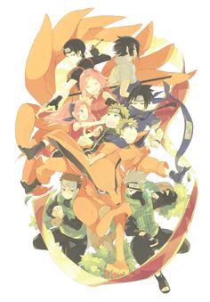 Tags: Fanart, NARUTO, Haruno Sakura, Uzumaki Naruto, Uchiha Sasuke, Sai, Hatake Kakashi, Pixiv, Team 7, Kyuubi (NARUTO), Yamato (NARUTO), Fanart From Pixiv, Pixiv Id 16841197