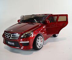 NEW 2015 Licensed Mercedes Benz Ml63 12v Kids Ride on Power Wheels Battery Car-red