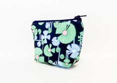 Small Coin Purse Change Pouch Zipper Pouch by handjstarcreations