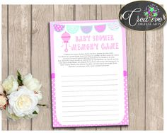 Baby Shower Nursery Baby Shower Pattern Activity Having Fun MEMORY GAME, Party Supplies, Shower Activity, Shower Celebration - bsr01 #babyshowergames #babyshower