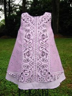 bandana dress | this is made from a bandana! It is too cute.