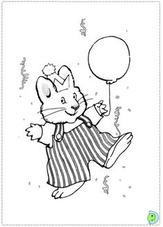 Max Playing With His Balloon In And Ruby Coloring Page Free Nick JrColoring PagesBalloons