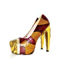 Exclusive Luxury African print platform heels by Zabba Designs, Ankara Fabric Bridal shoes, wedding shoes, prom shoes crystal shoes