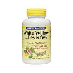 White Willow with Feverfew, 60 Veg Caps  Book Your Order On WhatsApp Now: +971559989729  #UAESupplements