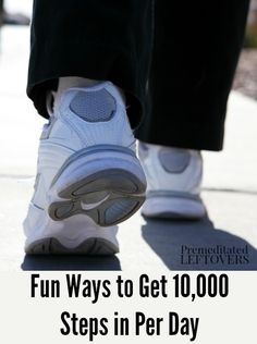 How to Get Steps Per Day - Looking to find ways to get more exercise in each day? Use these Fun Ways to Get Steps in Per Day! 10000 Steps A Day, Steps Per Day, Fitness Diet, Fitness Motivation, Health Fitness, Fitness Workouts, High Intensity Interval Training, Get Healthy, Healthy Recipes