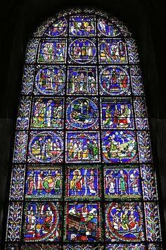 """The """"Poor Man's Bible"""" window at Canterbury Cathedral 13th century, reconstructed with fragments of perhaps two other windows"""
