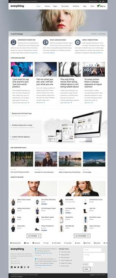 Everything — Responsive WordPress Theme #html5wordpressthemes #responsivewordpressthemes #parallax #html5 #css3