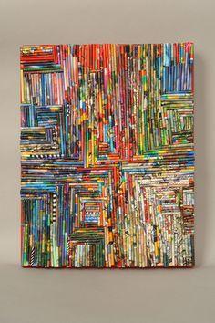 Divine matrice collage sur toile par MimiBoutique sur Etsy