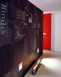Create an Accent Wall That Doubles as a Chalkboard with Honed or Natural Slate Tile