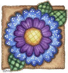 dibujos de flores country - Buscar con Google