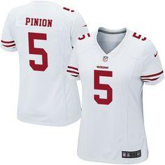ed44c0f307a Nike Elite Bradley Pinion White Women s Jersey - San Francisco 49ers  5 NFL  Road