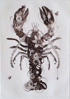 Lobster  original contemporary black and white by JacoPutkerPrints, €35.00