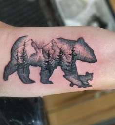 Poppa and baby bear by Danny McNamara from Electric Empire Tattoo Butler Pa