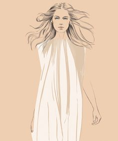 The epitome of bohemian style celebrate 60 years of dressing the modern woman. Happy Anniversary Chloe! draw, style celebr, fashion illustr, bohemian style