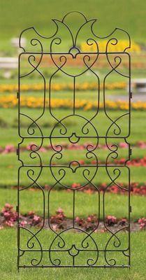 Trellis Wrought Iron Large Metal Ornamental Yard Art Wall Art Art Decorativeornamentalironworks Iron Schmiedeeisernes Gitter Gartenspaliere Schmiedeeisen