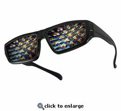 Plastic Fireworks Diffraction Rave Glasses
