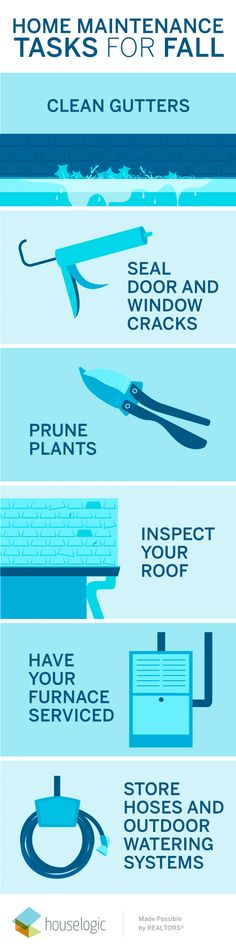 Now that fall has officially arrived, start checking off these seasonal home maintenance to-dos.