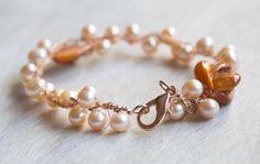 mother of pearls bracelet handmade