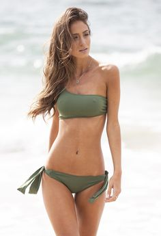 5518d669755aa Green One Shoulder Bikini Set - Hy Brasil - Bikiniland One Shoulder Bikini