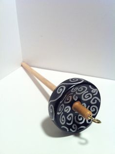 SALE  Hand Painted Drop Spindle by SuspiciousKitten on Etsy, $4.00