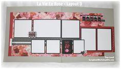 Scrapbooking Kits: La Vie En Rose 6-Page Scrapbook Kit - $22