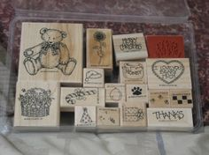 STAMPIN UP Wood Block  Variety Set Of 17 Ink Stamp Used http://AJunkeeShoppe.Webstore.com