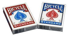 2 x Bicycle Poker Size Standard Index Playing Cards, 4 Deck Player's Pack