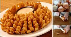 Receita passo a passo: como fazer uma flor de cebola frita