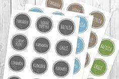 Výsledek obrázku pro Etykiety przypraw Spice Jar Labels, Spice Jars, Kids Decor, Spices, Diy, Decoration, Inspiration, Turmeric, Decor