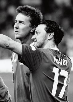 James McAvoy and Edward Norton play Soccer. Together.