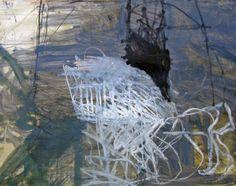 """Jeri Ledbetter - """"Chalk Hill II,"""" mixed media on paper, 43"""" x 54"""""""