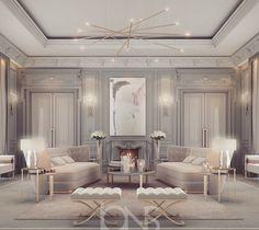 Exquisite WhiteandGold Luxury Regal Interior Design Inspiration