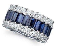 Sapphire Diamond Jewelry Ring