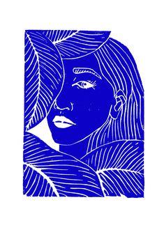 Art Inspo, Inspiration Art, Gravure Illustration, Art Et Illustration, Illustration Design Graphique, Art Graphique, Blue Drawings, Art Drawings, Canvas Prints