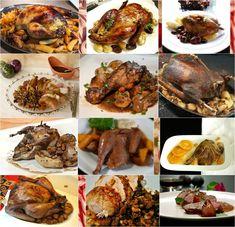 Χριστουγεννιάτικο ή πρωτοχρονιάτικο τραπέζι με πουλερικά και φτερωτά κυνήγια. Οι πιο οικονομικές και κλασικές γκουρμέ επιλογές ως τα πιο ιδιαίτερα, γιορτινά πιάτα του pandespani για να επιλέξετε. Stuffed Mushrooms, Menu, Vegetables, Food, Menu Board Design, Hoods, Vegetable Recipes, Meals, Menu Cards
