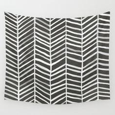 Herringbone – Black & White Wall Tapestry