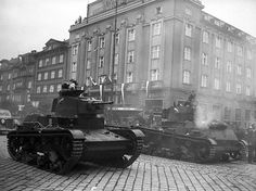 polish light tank 7-TP intrudes Czecho-Slovakia