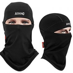 Balaclava, Aegend Ski Face Mask Polyester Fleece for Women Men Youth Tactical Balaclava Hood for Motorcycle