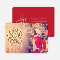 Warm Wishes for the Holidays Cards from Paper Culture