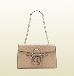 d40839ab4a74 emily guccissima leather chain shoulder bag Gucci Purses, Gucci Handbags, Gucci  Bags, Chain