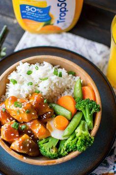 Quick Weeknight Orange Chicken Recipe.  #ad #Trop50FreshStart