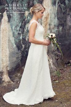 Alldeles fantastisk brudklänning i vintage stil 691