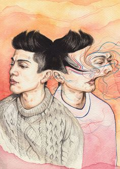 New Zealand illustrator Henrietta Harris is a skilled watercolor artist. This series of portraits expresses everyday sensory interference by way of de. A Level Art, Painting Gallery, Gcse Art, Illustration Artists, Watercolor Artists, Watercolour, Portrait Art, Art Day, Art Inspo