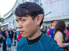 """DIY Spock ears look impressive, logically! Movie effects artist Frank Ippolito shows how to make realistic pointy ear prosthetics for """"Star Trek'"""" cosplayers to wear with Vulcan pride."""