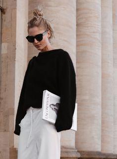 794571964 Céline baby Audrey sunglasses, Acne Studios knit, Cos silk trousers, Céline  bag and