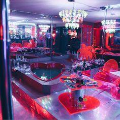 Marina Fini and Signe Pierce, Motelscape - motel room with plexiglass decor Neon Bedroom, Bedroom Inspo, Bedroom Decor, Neon Aesthetic, Aesthetic Bedroom, My Room, Girl Room, Nightclub Design, Motel Room