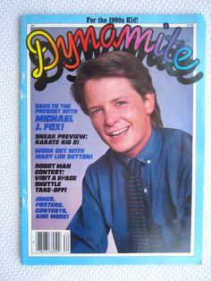 Vintage 1986 Dynamite Magazine Michael J Fox Cover by corrnucopia