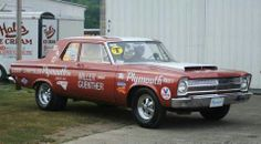 Old Super Stock Plymouth, same model as my car, awesome!