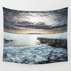 Sea Tapestry Ocean Wall Tapestry Sunset Wall Tapestry Nature Wall Hanging Bohemian Wall Decor Ice Dorm Decor Gift Wall Art by HappyMelvin Tapestry Nature, Tapestry Design, Winter Home Decor, Winter House, Bohemian Wall Decor, Heart Wall, Affordable Art, Beautiful Wall, Large Wall Art